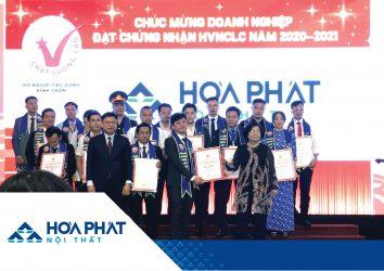 Nội thất Hòa Phát nhận danh hiệu Hàng Việt Nam Chất lượng cao 2020 – 2021.